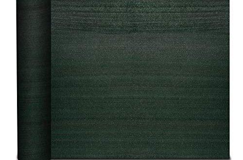 casa pura® Zaunblende   Fachhandel-Qualität   effektiver Sichtschutz, Windschutz, Schattiernetz   für Sportplatz, Garten, Maschendrahtzaun   Tennisblende grün   viele Größen (1,5m x 6m)