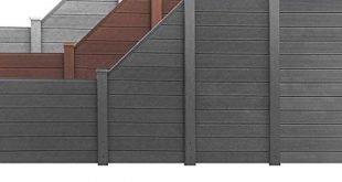 WPC Zaun Terrasse Zaun Sichtschutz Windschutz Dichtzaun UV-Schutz Gartenzaun