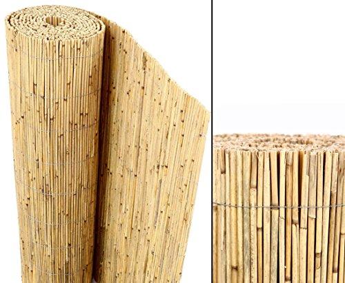 bambus-discount.com Schilfrohrmatten Premium Beach, 180 hoch x 600cm breit, EIN Produkt Sichtschutz Matten Windschutzmatten