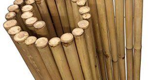 DE COmmerce Extrem Stabiler Bambus Holz Sichtschutz Zaun XL hochwertiger Windschutz 310x165 - DE-COmmerce Extrem Stabiler Bambus Holz Sichtschutz Zaun XL hochwertiger Windschutz mit geschlossenen und versiegelten Bambusrohren (HxB) 150 cm x 180 cm Nature