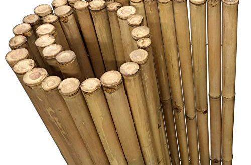 DE COmmerce Extrem Stabiler Bambus Holz Sichtschutz Zaun XL hochwertiger Windschutz 500x330 - DE-COmmerce Extrem Stabiler Bambus Holz Sichtschutz Zaun XL hochwertiger Windschutz mit geschlossenen und versiegelten Bambusrohren (HxB) 150 cm x 180 cm Nature