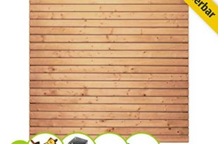 Rhombus Sichtschutzzaun I Gartenzaun Komplettset - inkl. Pfosten und Pfostenträger I druckimprägniertes, grünes Fichten-Holz I 1 x Element + 2 x Pfosten I Zum Aufschrauben
