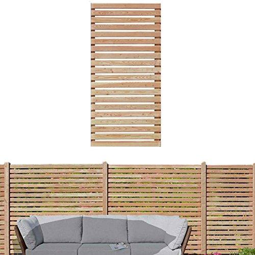 Gartenpirat Sichtschutzzaun 90x180 cm aus Lärchenholz Bausatz Zaunelement zum selber Bauen