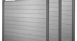 Mendler WPC Sichtschutz Sarthe Windschutz Zaun WPC Pfosten 3er Set 57m 310x165 - Mendler WPC-Sichtschutz Sarthe, Windschutz Zaun, WPC-Pfosten ~ 3er Set, 5,7m grau